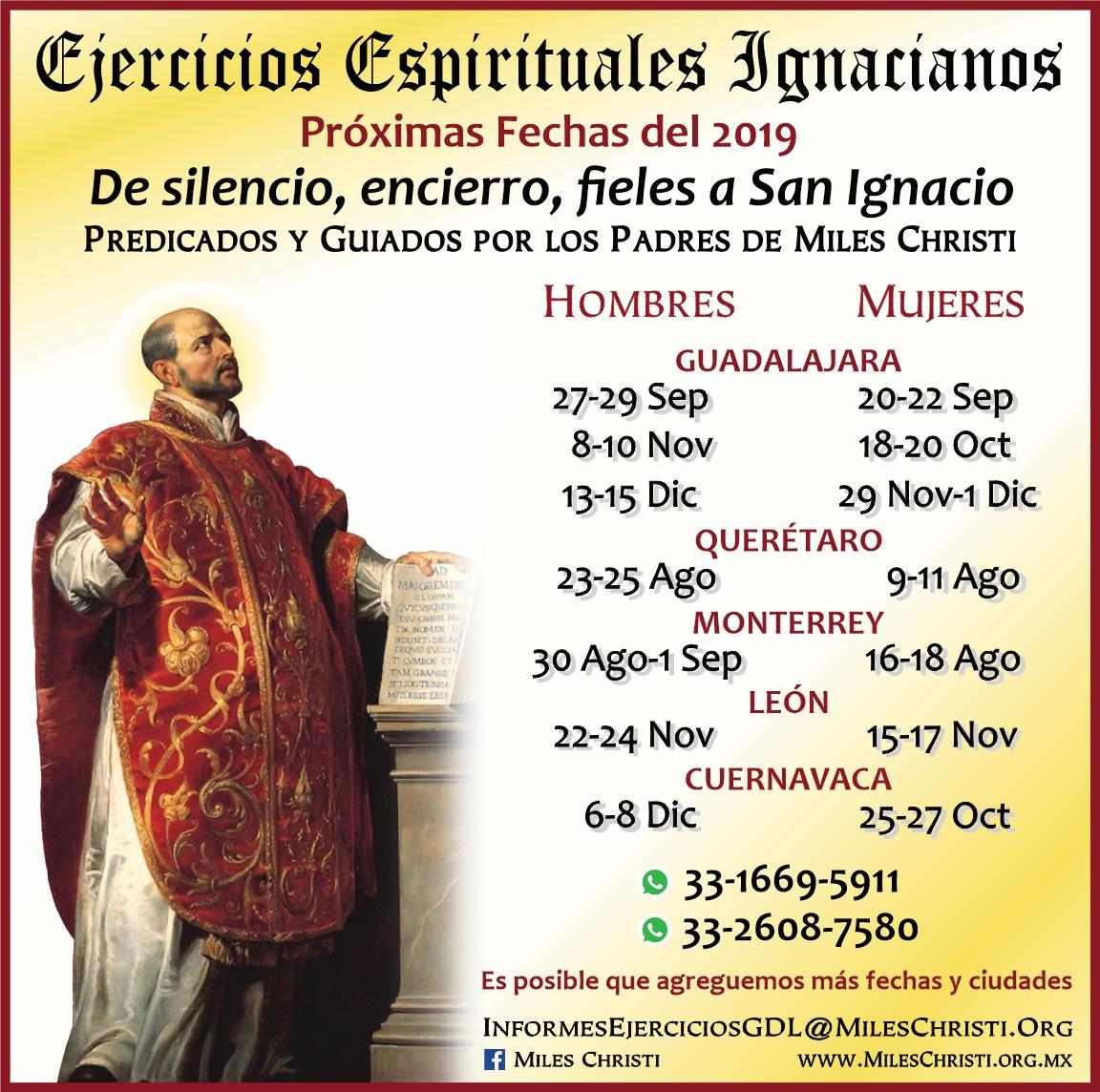 Ejercicios Espirituales Miles Christi 2019 México