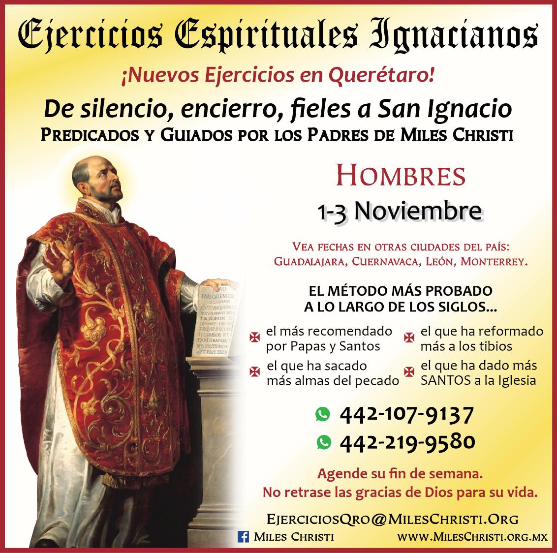 Ejercicios Espirituales, predicados por los padres de Miles Christi en México