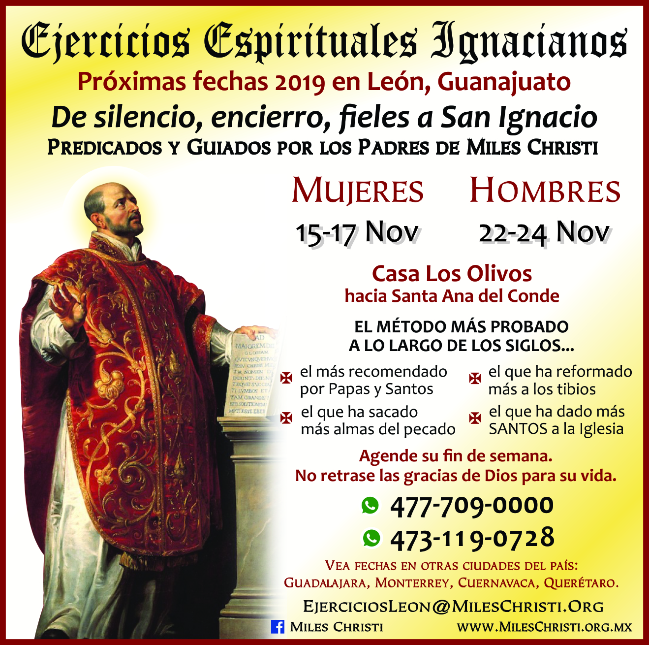 Ejercicios Espirituales Ignacianos en Guanajuato
