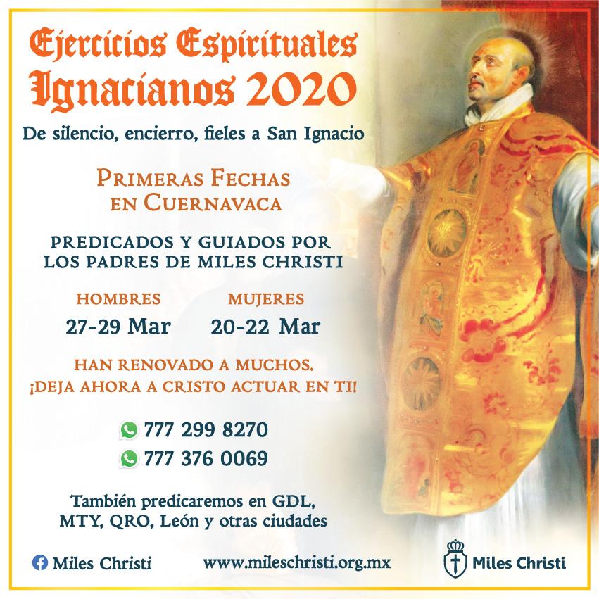Ejercicios Espirituales Ignacianos Retiros Cuernavaca Mexico 2020